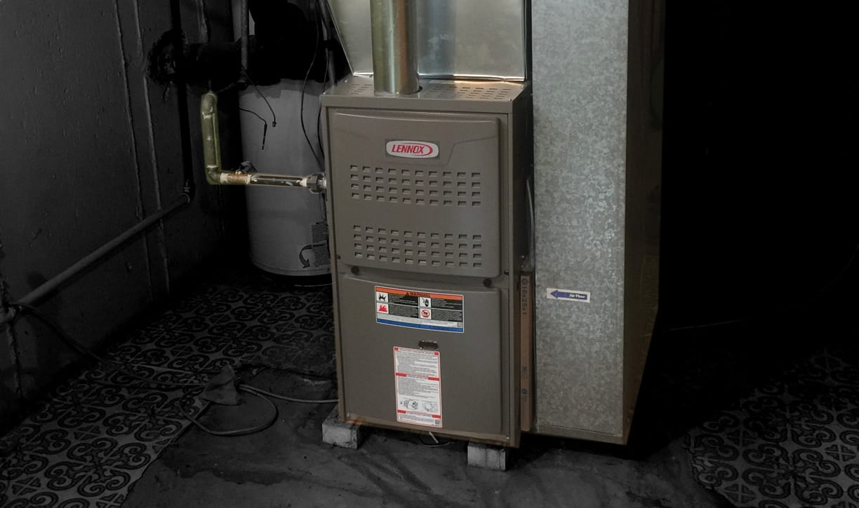 Chicago Lennox 80 Efficient Furnace Installation Around